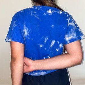 Gildan Tops - Upcycled hand bleached blue tshirt size medium